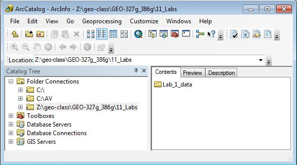 GEO326G/386G: Lab 1- Introduction to ArcGIS