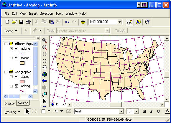 GEOGG Lab Map Projections And Coordinate Systems - Map layers for us arcgis